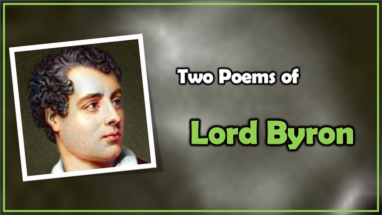 Two Poems of Lord Byron